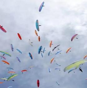 江阴花山滑翔伞飞行体验,一生总得飞一次!(自由行)