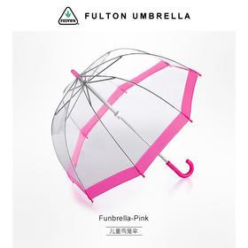 英国进口FULTON创意儿童伞长柄伞可爱鸟笼伞