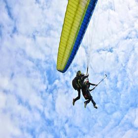 【滑翔伞】自由行·成都大坪滑翔伞体验,像鹰一样自由翱翔天空!
