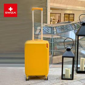 Swiza小黄箱网红行李箱耐磨抗摔拉杆箱女22寸登机箱百年瑞士