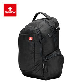 SWIZA百年瑞士刀商务双肩包男大容量15.6英寸电脑包短途出差旅行包多功能防盗尼龙背包 大都会