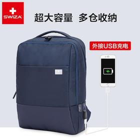 Swiza瑞士电脑背包男户外旅行休闲双肩包商务书包出差多功能包