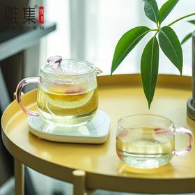 雅集茶具 水滴保温座恒温杯垫茶壶暖杯垫热牛奶器玻璃保温茶具套装
