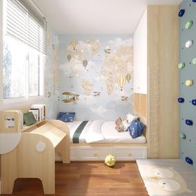 优沃 功能儿童房定制升降学习桌儿童床组合衣柜套装儿童房定制