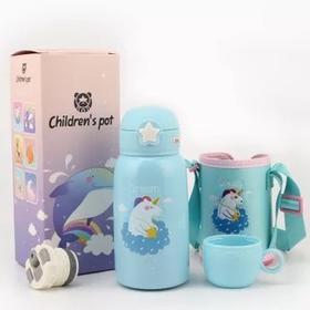 迪创304儿童双盖保温水壶