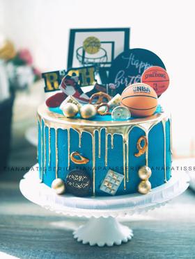 篮球 AJ 奶油蛋糕