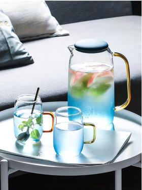 东哥好物推荐-严选品质 渐变色网红水杯创意个性潮流简约玻璃杯子套装北欧清新夏天冷水壶