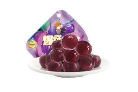 【京东】三只松鼠休闲零食爆浆果汁软糖果味橡皮糖QQ糖葡萄味爆破果果40g/袋【休闲零食】