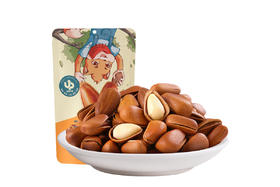 【京东】三只松鼠手剥东北开口松子 坚果炒货零食特产每日坚果100g/袋【休闲零食】