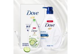 【京东】多芬(DOVE)沐浴露套装 深层营润1kg+清透水润300g(沐浴乳)【个护清洁】