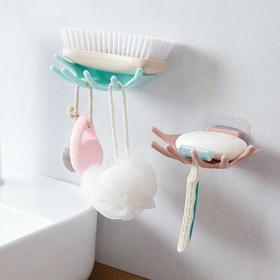 野犀 肥皂盒沥水吸盘式不锈钢香皂盒卫生间置物架壁挂肥皂架浴室