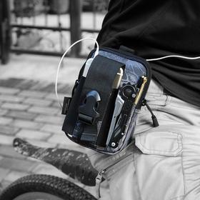 蝰蛇便携K型战术小腰包  高密度面料大容量便携一包多用腰包挂包登山骑行运动包