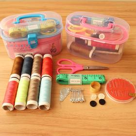 家里的针线活, 一套就搞定   家用针线盒 布艺缝纫针套装针线包多功能便携整理百宝箱