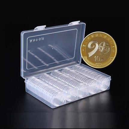【收藏工具】27mm纪念币保护壳100个带收纳盒(不含币) 商品图3