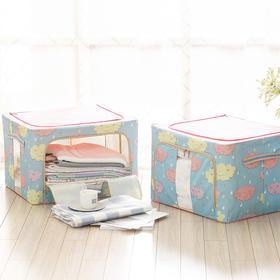 H&3 2个装大容量牛津布衣物整理储物箱收纳箱