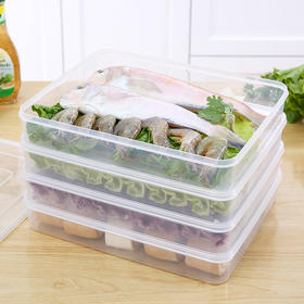 H&3 饺子盒冻饺子多用冰箱保鲜盒密封收纳盒馄饨饺子盒3个装
