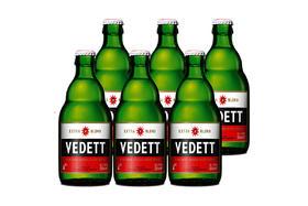 【京东】白熊(Vedett Extra White)比利时 原瓶进口 精酿 企鹅啤酒 330ml*6瓶【乳酒冲饮】