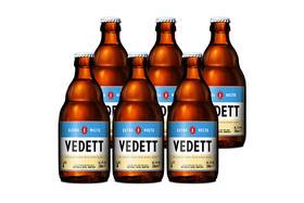 【京东】白熊(Vedett Extra White)比利时 原瓶进口 精酿啤酒 白熊啤酒 330ml*6瓶【乳酒冲饮】