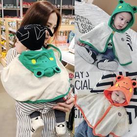 【童装】婴儿斗篷宝宝动物印花披肩