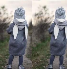 【童装】爆款亚马逊带帽长袖夹克开衫外套