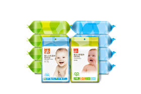 【京东】gb好孩子 婴儿湿巾 儿童宝宝新生儿 亲肤温和 海洋水润湿巾36片*5包+木糖醇手口湿巾36片*5包(便携装)【个护清洁】