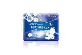 【京东】护舒宝纯棉舒睡夜用卫生巾425mm 4片【女性护理】