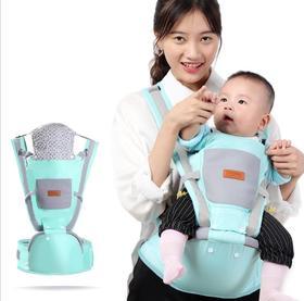 【母婴用品】婴儿背带多功能带防风帽宝宝腰凳四季通用抱娃神器抱带帽子