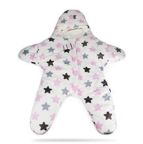 【婴儿用品】婴儿海星睡袋 0-3岁分腿彩棉宝宝防踢被拉链式儿童推车被