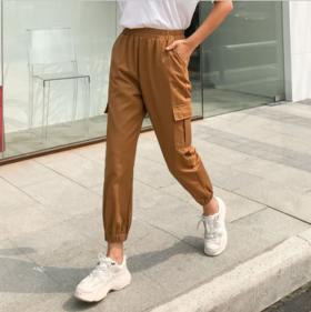 【休闲裤】2019春季新款哈伦工装裤子女韩版百搭宽松小脚九分休闲裤
