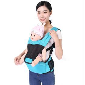 【母婴用品】婴儿背带夏季薄款透气网布多功能宝宝腰凳网面妈抱婴抱带抱娃神器