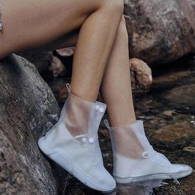 【阴雨天气再也不怕鞋子湿】PVC材质加厚防水搭扣雨鞋套,轻轻一卷可收纳, 增加设高款