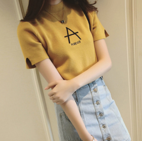 【针织衫】韩版2019冬季新款加厚打底衫长袖修身紧身半高领针织衫毛衣女套头