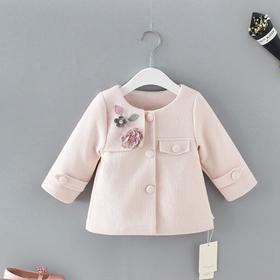 【童装】可爱小花朵儿童春秋风衣外套