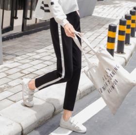 【休闲裤】秋季九分运动裤女2019新款韩版百搭显瘦休闲小脚女裤