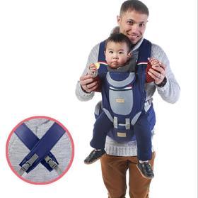 【婴儿用品】爱诺咪多功能婴儿背带透气防风帽前抱式后背交叉宝宝腰凳带收纳