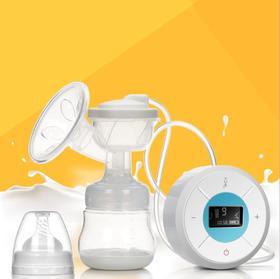 【母婴用品】新款婴儿智能USB电动吸奶器 硅胶花瓣集奶瓶按摩催乳吸乳器充电式