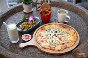 88元抢190元老木头咖啡双人晚餐!肉食主义披萨、黑胡椒牛柳炒面...听着歌声吃着美食 享受生活从今晚开始!