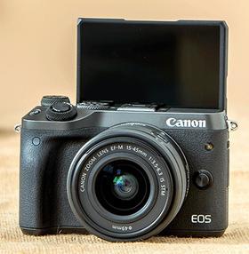 【canon】Canon/佳能 EOS M6(15-45mm)套机高端微单相机美颜自拍相机旅游m6