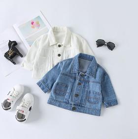 【童装】韩版印花男女宝宝牛仔夹克