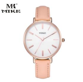【女士手表】MIKE米可新款时尚简约休闲女士石英电子学生皮带防水手表超薄手表