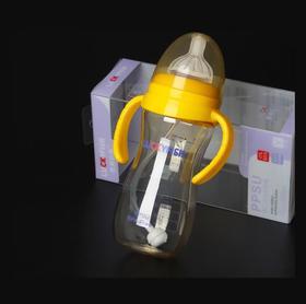 【婴儿用品】吉祥小鱼婴幼儿PPSU宽口径防滑磨砂握把自动奶瓶