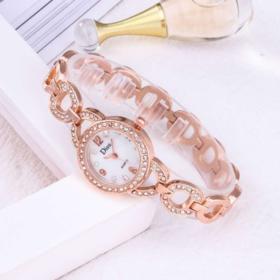 【女士手表】新款钢带手链女士手表速卖通爆款 韩版镶钻潮流石英表