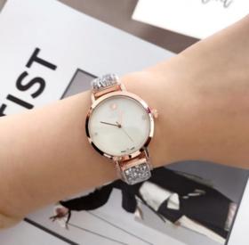 【女士手表】小表盘施华洛女士手表石英腕表小天鹅镶钻手链时尚手表