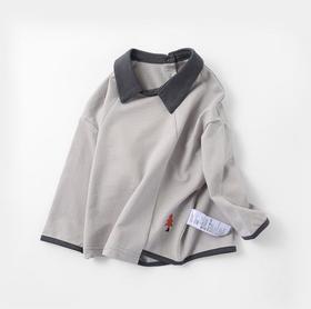 【童装】娃娃领秋冬新款韩版纯棉刺绣上衣
