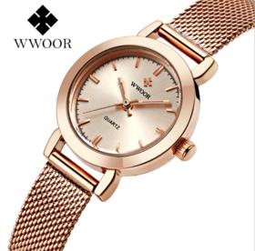 【女士手表】精钢网带石英手表夜光防水手表女手表