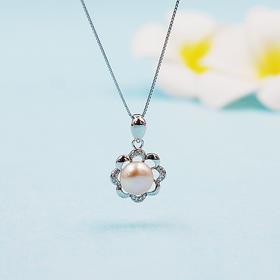 花翎*天然淡水珍珠吊坠(赠银链)