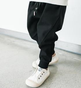 【童装】新款韩版加绒运动裤