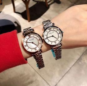 【女士手表】天星手表一圈钻女士手表贝壳面两针精钢石英摩天轮手表