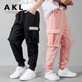 【童装】秋季韩版新款休闲针织工装裤