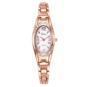 【女士手表】女士不锈钢带手链手镯手表时尚休闲镶钻高品质女表